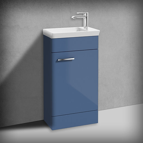Charm Gloss Blue 450mm Floor Standing Vanity Unit