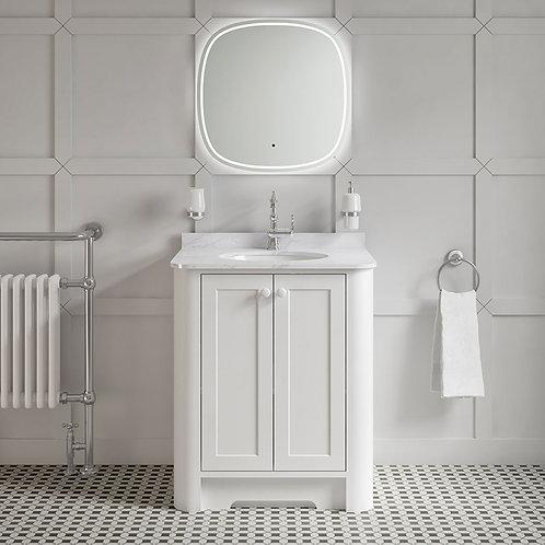 Dunluce White Freestanding Vanity Unit