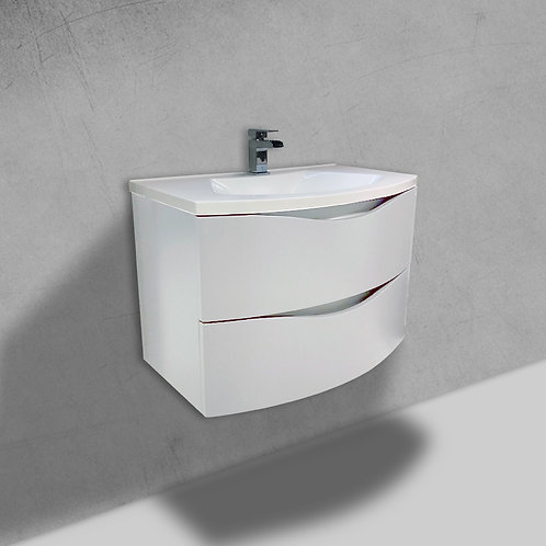 Cascade 800mm White Wall Hung Vanity Unit
