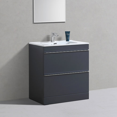 Castello Anthracite Freestanding Vanity Unit