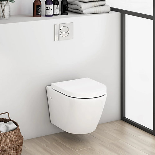 Urban Harmony Wall Hung Toilet Pan, Cistern & Seat
