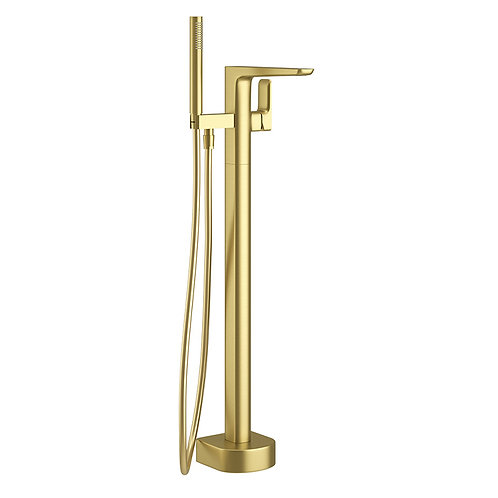 Pure Brushed Brass Freestanding Tap