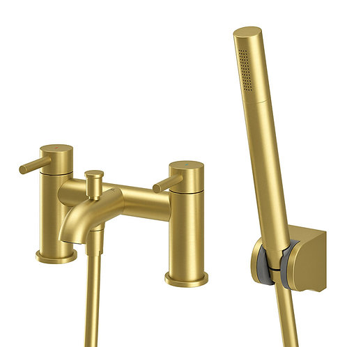 Oro Brushed Brass Bath Shower Mixer