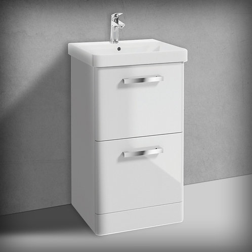 Odeon Gloss White 2 Drawer Vanity Unit & Basin
