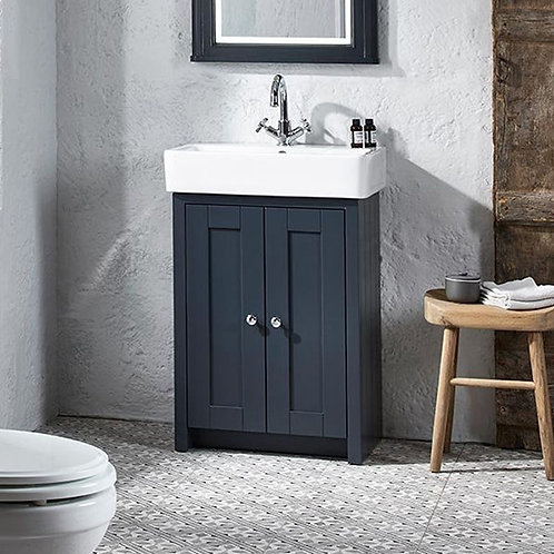 Lansdown 575mm Vanity Unit & Basin Dark Grey