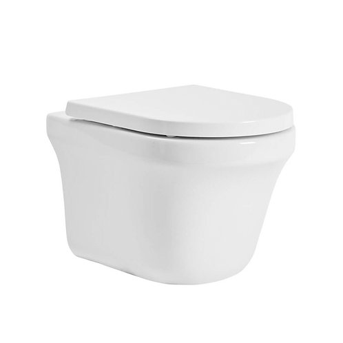 Aerial Comfort Height Wall Hung Toilet With Soft Close Seat