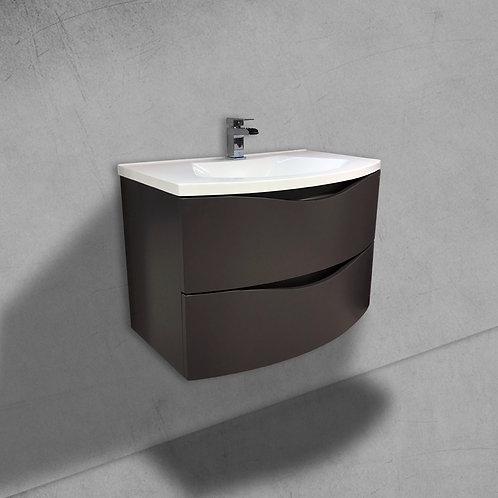 Cascade 800mm Grey Wall Hung Vanity Unit