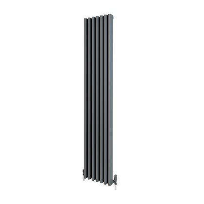 Valerio 1800 x 280mm Anthracite Vertical Designer Radiator