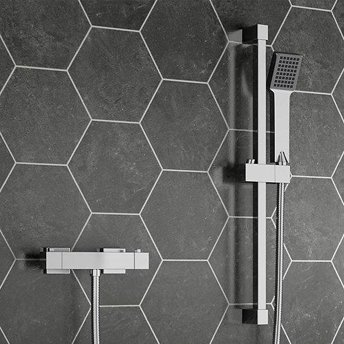 RT Square Thermostatic Bar Shower & Slide Rail Kit
