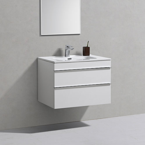 Castello White Wall Hung Vanity Unit