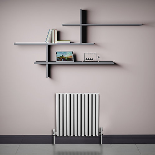 Verona White 550 x 565mm Horizontal Designer Radiator