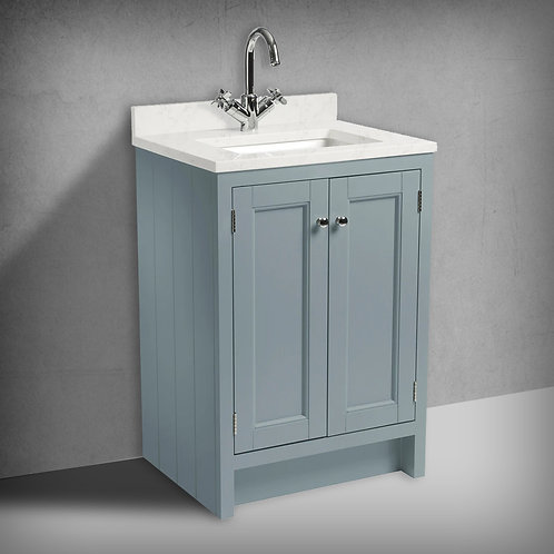 Hampton 600 Underslung Basin Unit, Worktop & Basin Agave