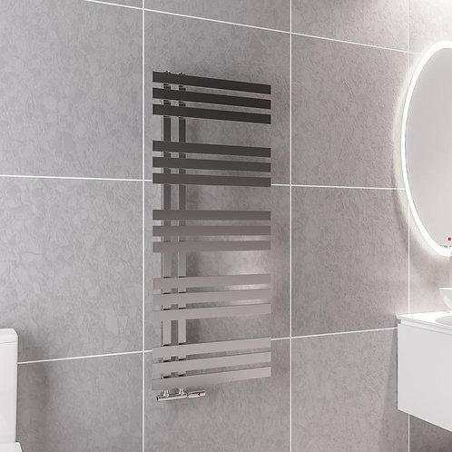 Adera 1200 x 500mm Chrome Heated Towel Rail