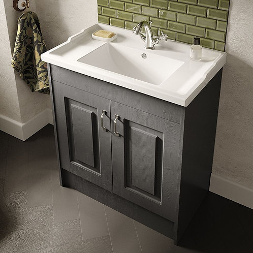 Nuie York Royal Grey Vanity Unit & Basin