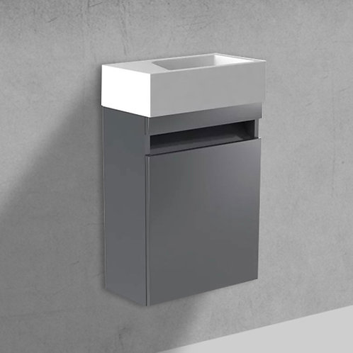 Benni 460mm Anthracite Wall Hung Cloakroom Unit