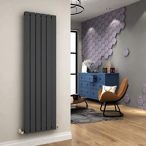 Ardea Anthracite 1800 x 462mm Single Vertical Designer Radiator