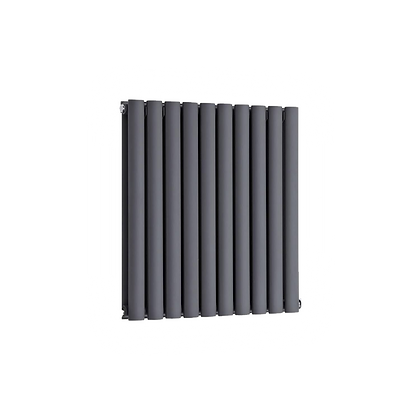 Nika 600 x 700mm Double Anthracite Horizontal Radiator