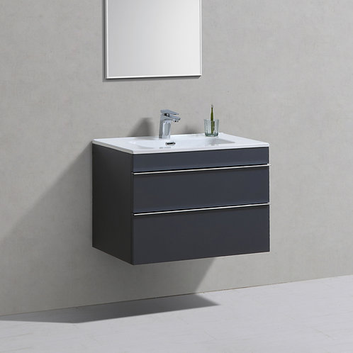 Castello Anthracite Wall Hung Vanity Unit