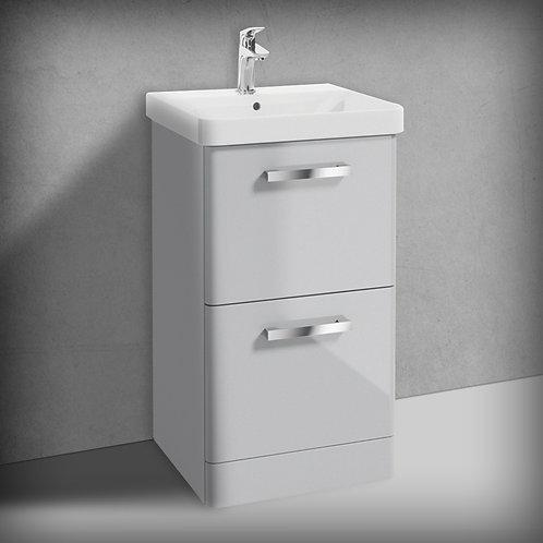 Odeon Cool Grey 2 Drawer Vanity Unit & Basin