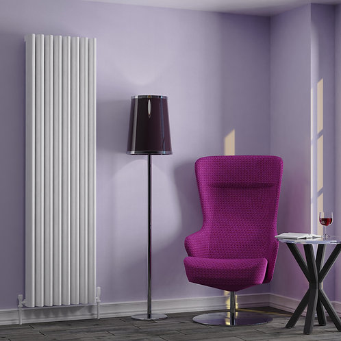 Verona White 1800 x 375mm Vertical Designer Radiator