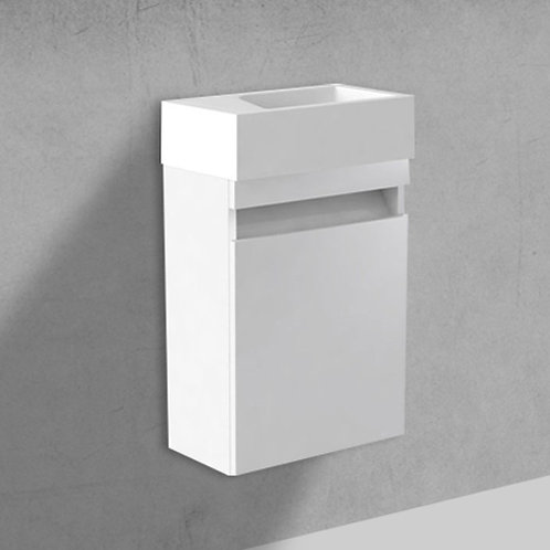 Benni 460mm White Wall Hung Cloakroom Unit