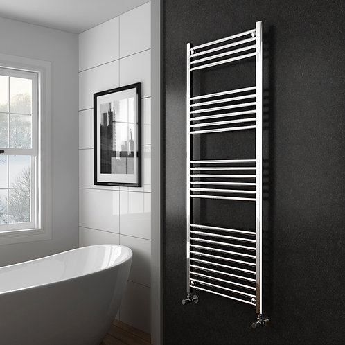 Aldo Chrome 1500 x 600mm Straight Heated Towel Rail