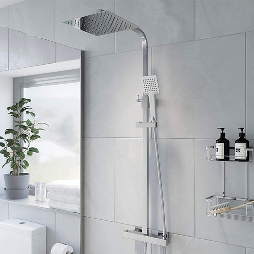 Fusion Square Exposed Shower Kit