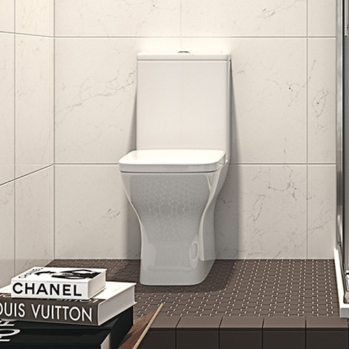 Roda Fully BTW Toilet Pan, Cistern & Soft Close Seat