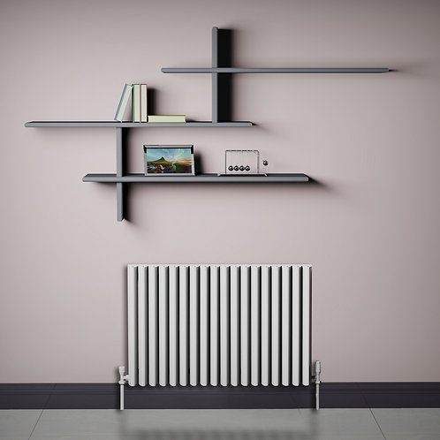 Verona White 550 x 880mm Horizontal Designer Radiator