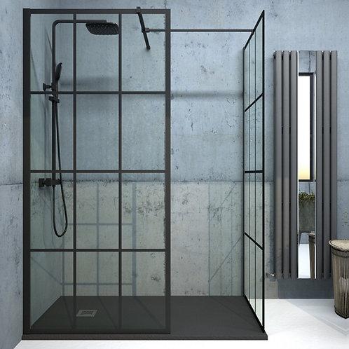 Aspect Black Trellis Wetroom Panel