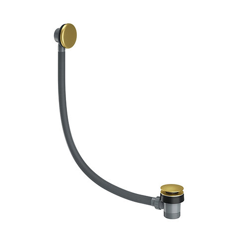 Brushed Brass Spring Bath Waste Easy Clean