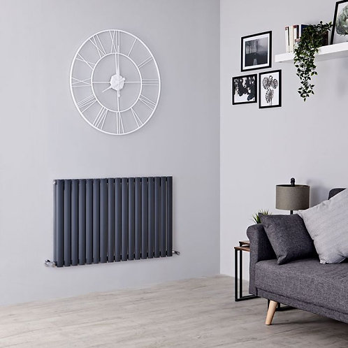 Novi Anthracite 600 x 1190mm Horizontal Designer Radiator