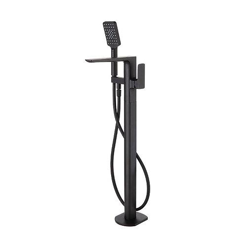 Velar Black Floor Standing Bath Shower Mixer & Kit