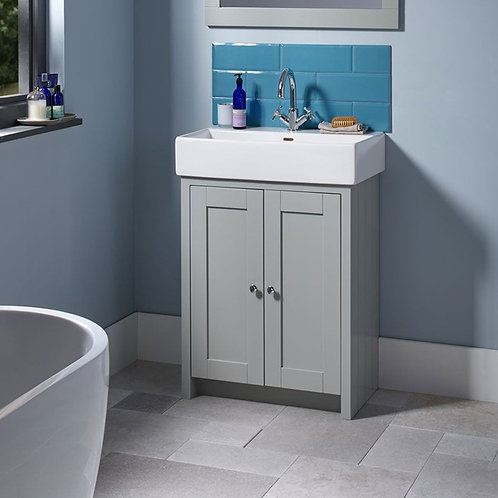 Lansdown 575mm Vanity Unit & Basin Pebble Grey