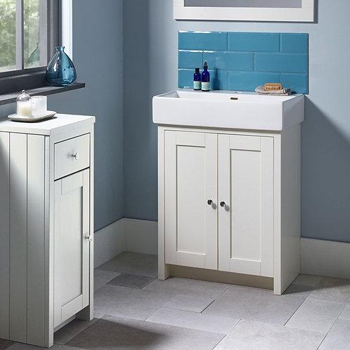 Lansdown 575mm Vanity Unit & Basin White