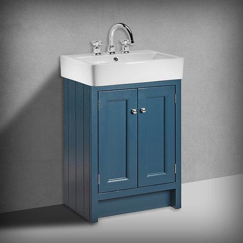 Roper Rhodes Hampton 575mm Basin Unit & Basin Derwent Blue