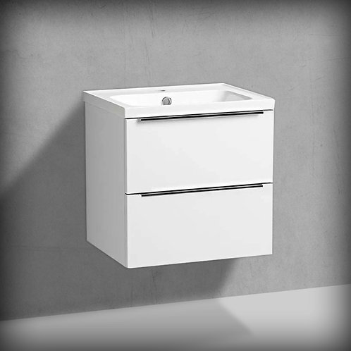 Cadence Gloss Gloss White Wall Hung Vanity Unit