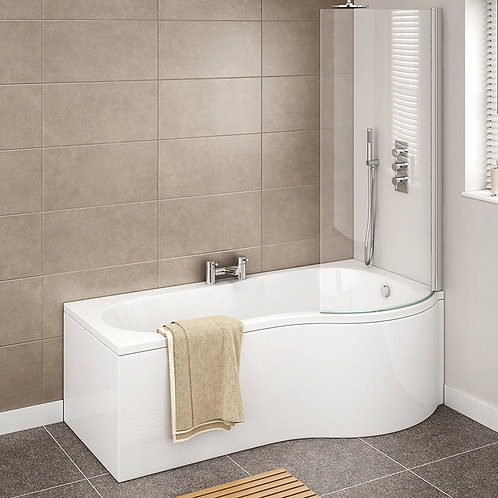 P Shaped Shower Bath With Screen & Panels
