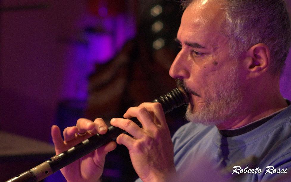 Alberto Morelli playing piffero