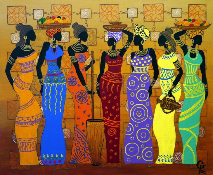 Гаджиева Лейла Африканские модницы 50х60 холст, акрил
