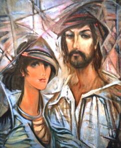 Катя и Николай, 1991,х.м., 100х80.jpg