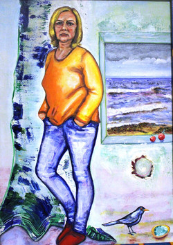Портрет Николь, 70х50, холст, акрил