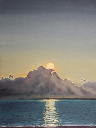 Закат над морем. 40х30, холст, масло. 30