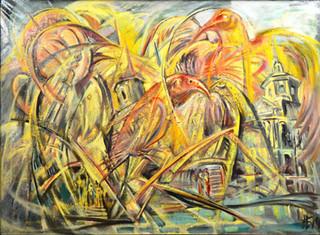 Люди и птицы, 2015, 80х110, х.м..jpg