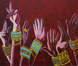 Гаджиева Лейла Танец рук 50х60 холст, масло