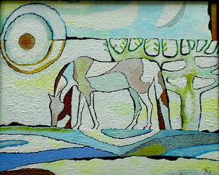 Белый конь. 40на50. Холст на картоне, акрил. Оформлена в багет. Цена 20000  (1).jpg