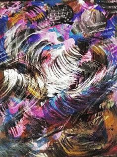 Птица Сирин, 40х30, холст, акрил, масло.