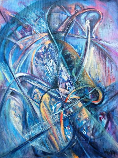 Лабиринты подсознания, 2014, х.м., 80х60