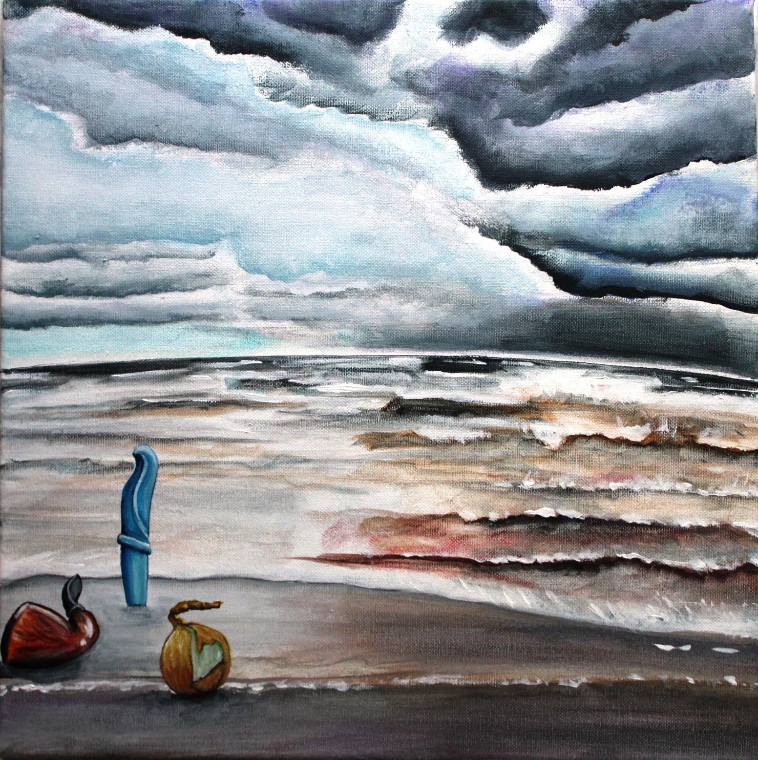 Балтийское море. 40х40, холст, акрил