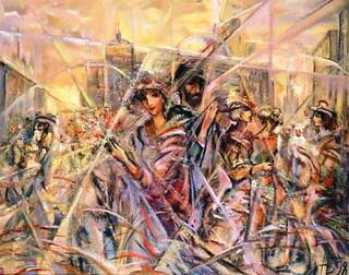 Московские ритмы, 1998, х.м., 80х100.jpg